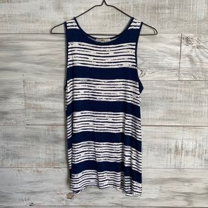 Bass Blue and White Striped Tank Top